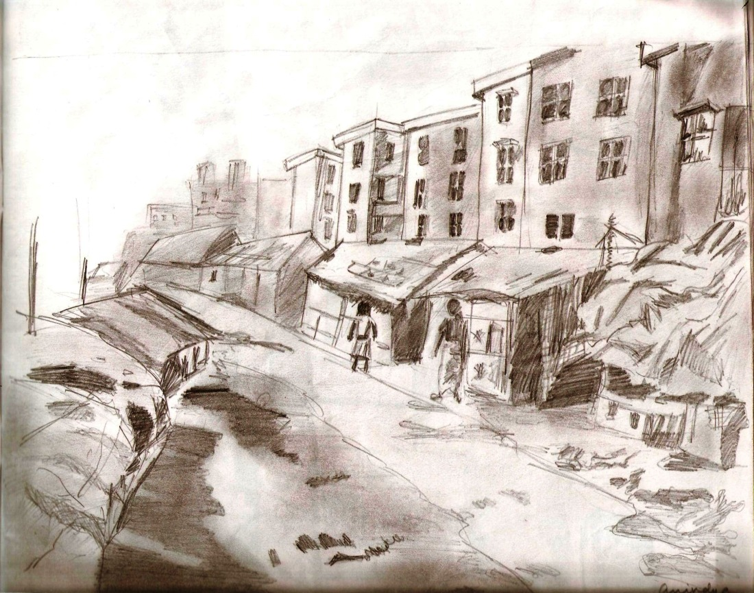 Walking Through the Slums